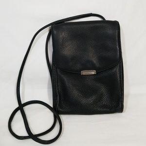 Fossil Black Pebbled Leather Crossbody Bag